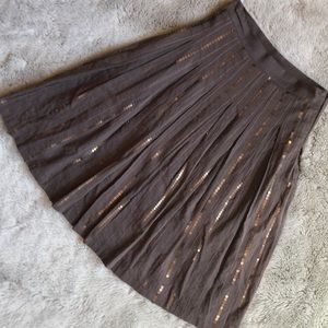 Anthropologie Skirt A-line Sequin Striped